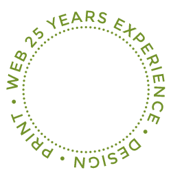 25 years experience in print, graphic design and web design